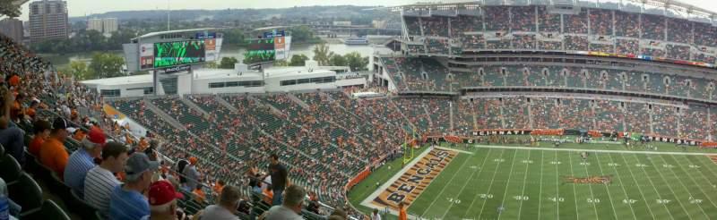 Vista sentada para Paul Brown Stadium Secção 341 Fila 27 Lugar 12