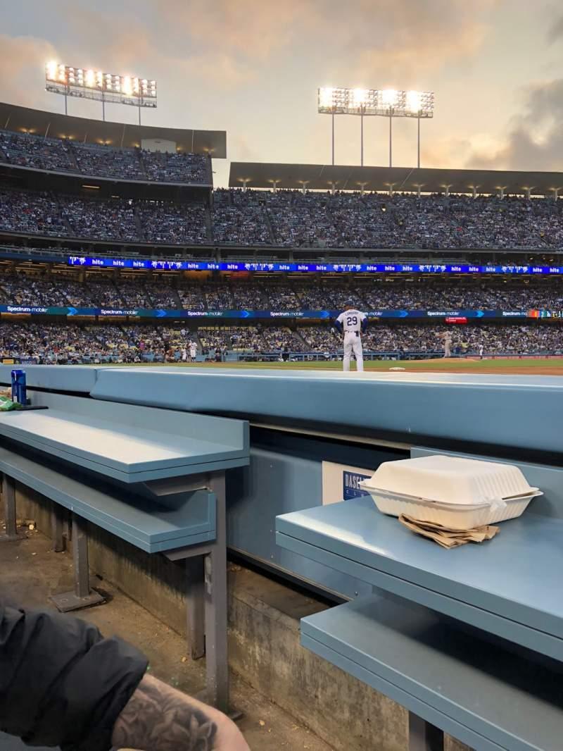 Vista sentada para Dodger Stadium Secção 30BL Fila 1 Lugar 2