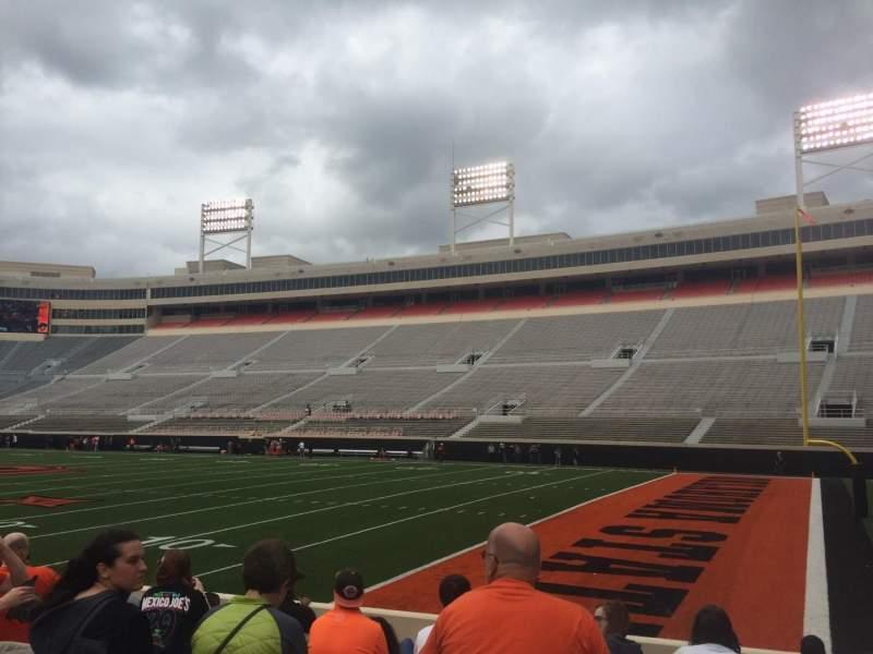 Vista sentada para Boone Pickens Stadium Secção 101 Fila 10 Lugar 20