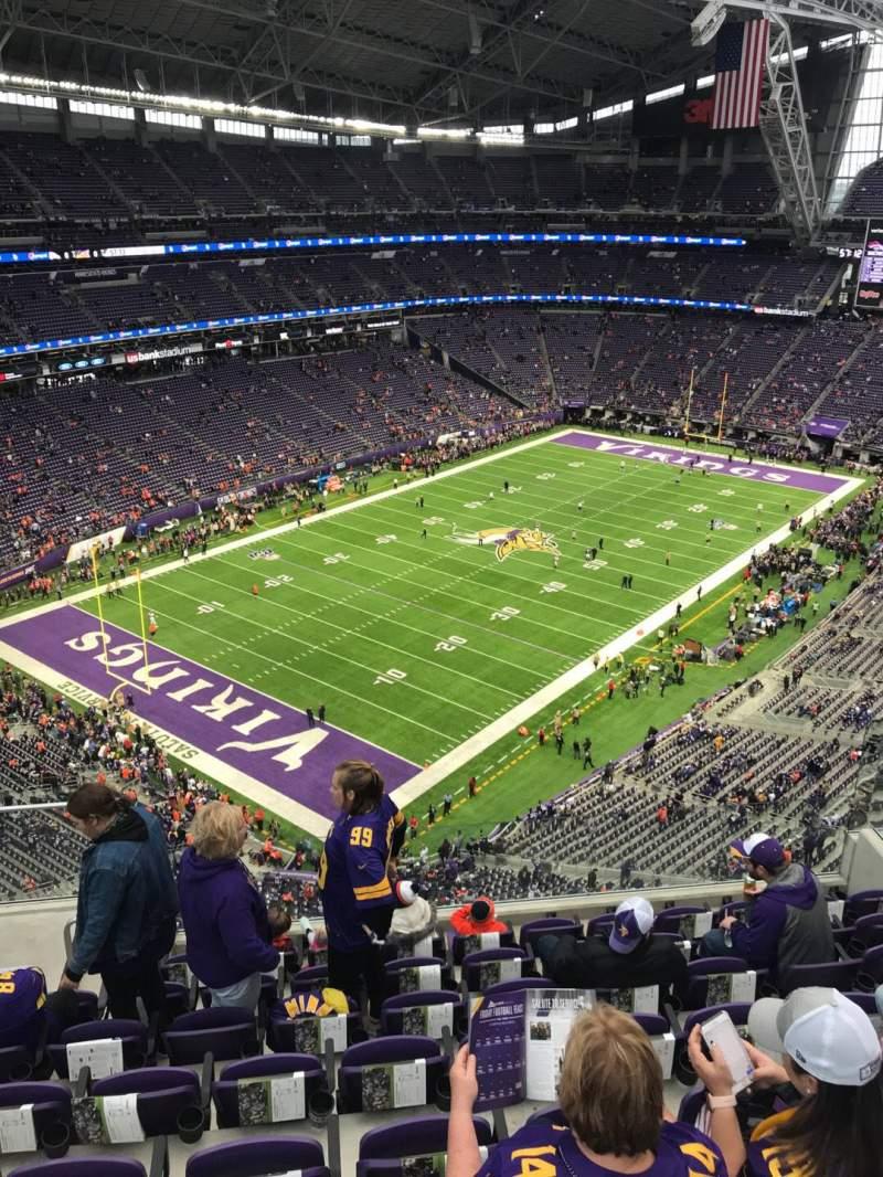 Vista sentada para U.S. Bank Stadium Secção 349 Fila 8 Lugar 13