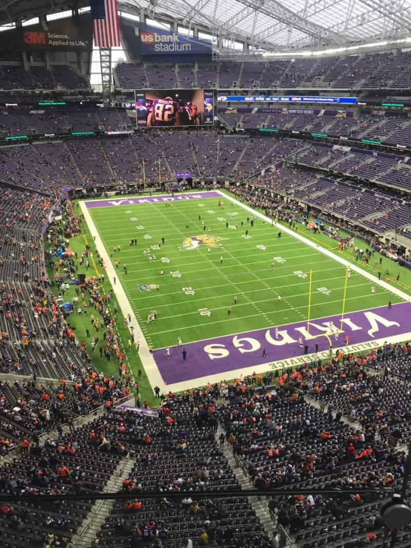 Vista sentada para U.S. Bank Stadium Secção 301 Fila 1 Lugar 1