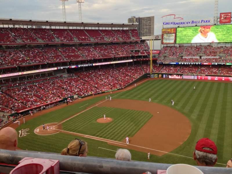 Vista sentada para Great American Ball Park Secção 532 Fila A Lugar 10