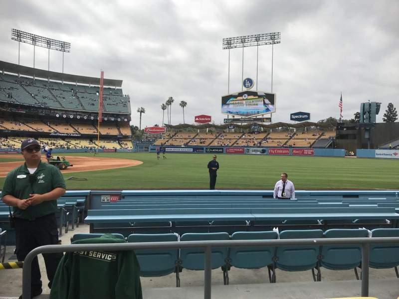 Vista sentada para Dodger Stadium Secção 32FD Fila C Lugar 2
