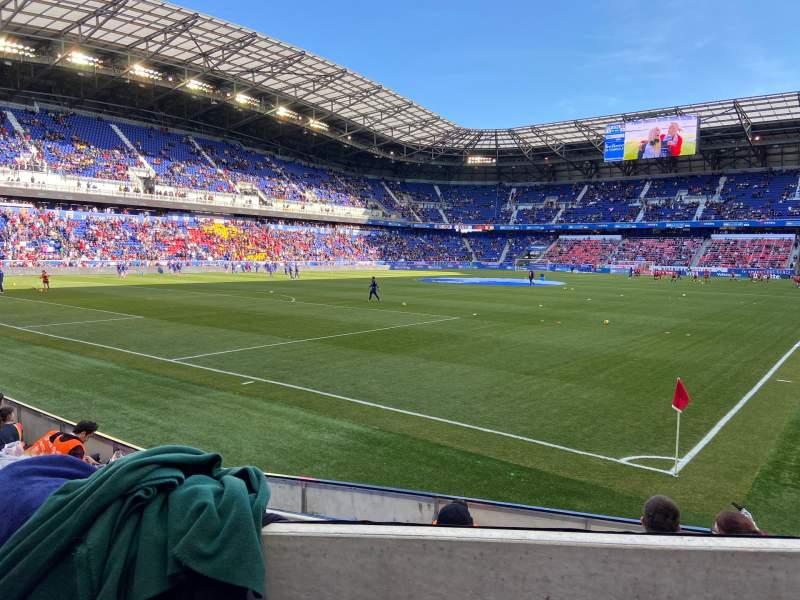 Vista sentada para Red Bull Arena (New Jersey) Secção 115 Fila 5 Lugar 6