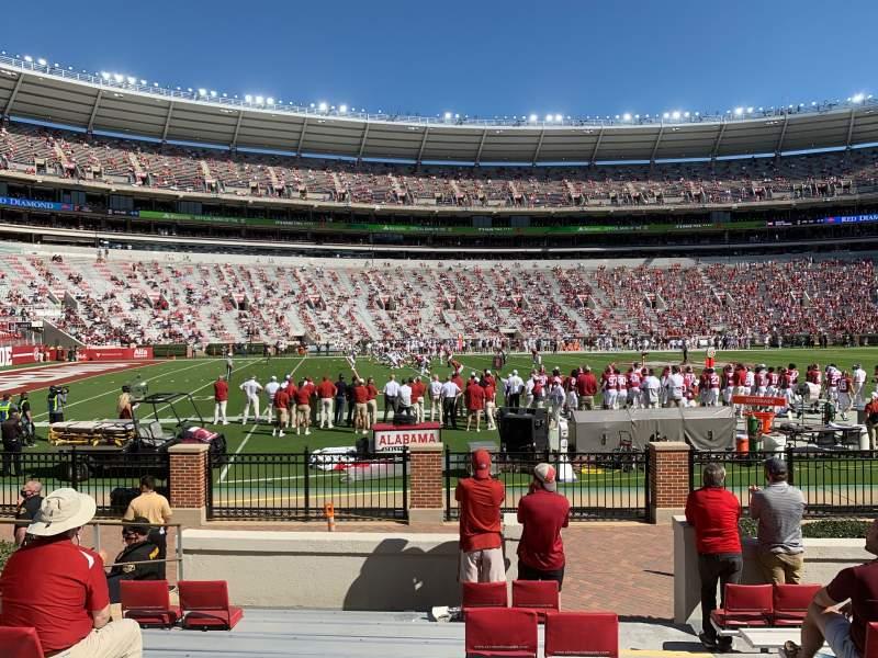 Vista sentada para Bryant-Denny Stadium Secção K Fila 10 Lugar 1