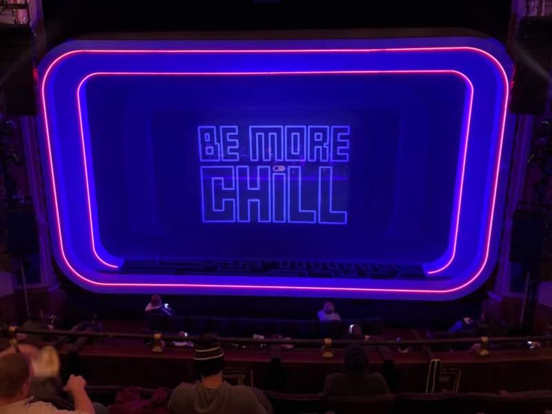 Vista sentada para Lyceum Theatre (Broadway) Secção Mezzanine C Fila G Lugar 106