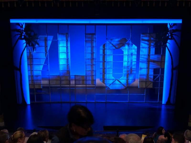 Vista sentada para Nederlander Theatre Secção Mezzanine C Fila J Lugar 108
