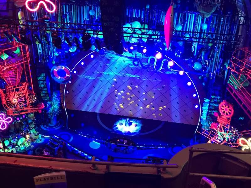 Vista sentada para Palace Theatre (Broadway) Secção Balcony Center Fila D Lugar 115