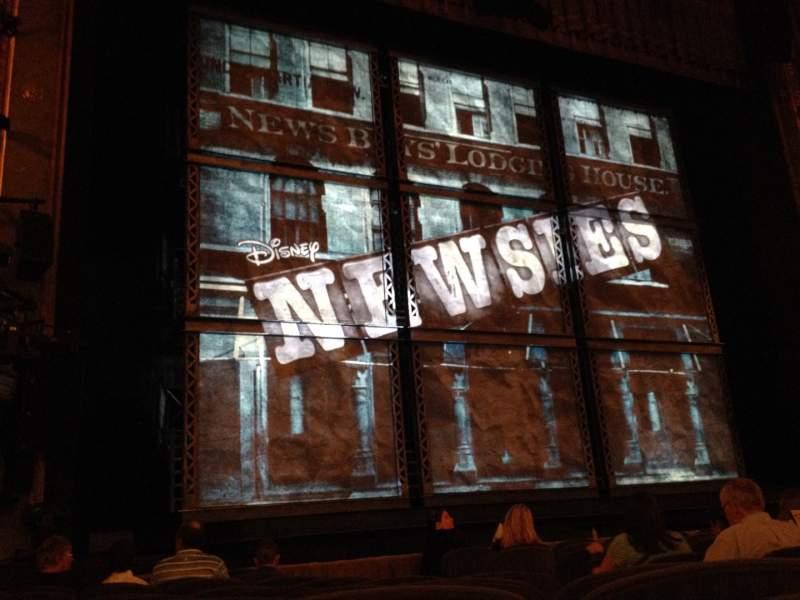 Vista sentada para Nederlander Theatre Secção Orchestra L Fila K Lugar 7