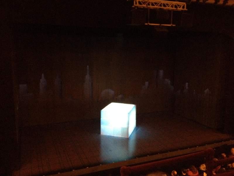 Vista sentada para Walter Kerr Theatre Secção Mezzanine L Fila C Lugar 3