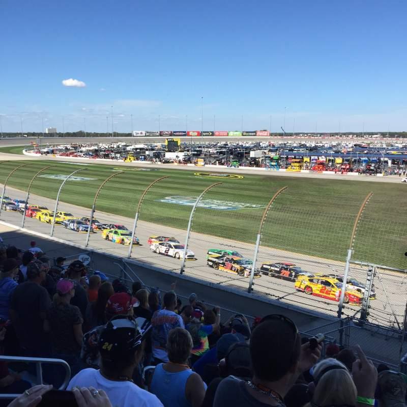 Vista sentada para Chicagoland Speedway Secção 101 Fila 11 Lugar 11