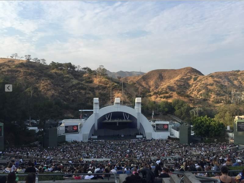 Vista sentada para Hollywood Bowl Secção T1