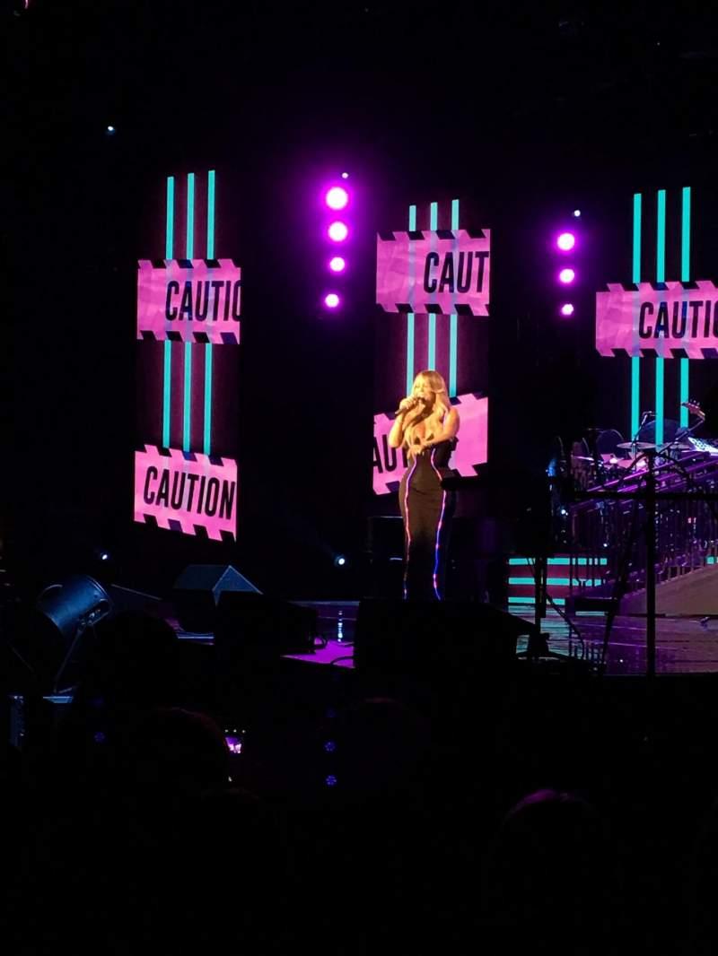 Vista sentada para Hard Rock Live at Etess Arena Secção 101 Fila C Lugar 9