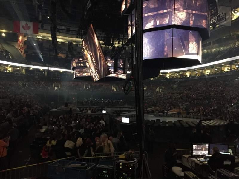 Vista sentada para Scotiabank Arena Secção 104 Fila 9 Lugar 1