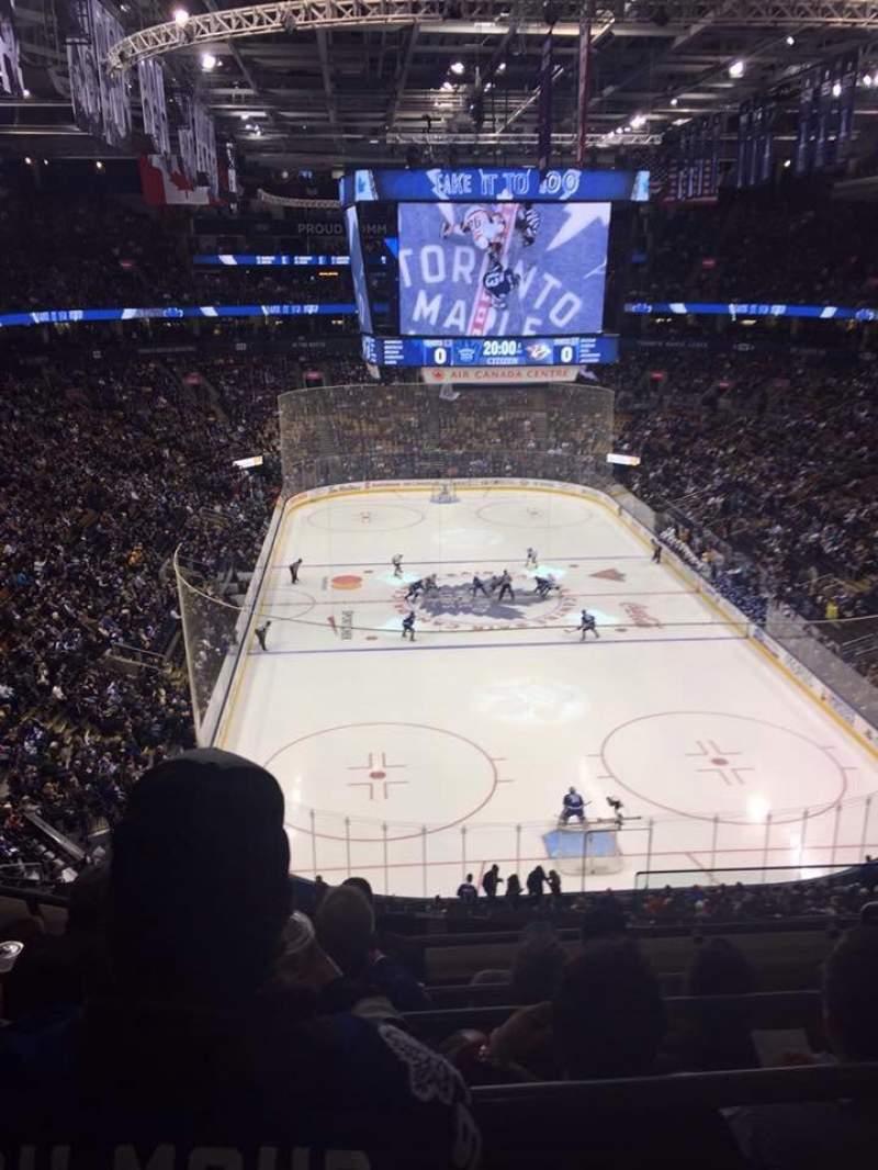 Vista sentada para Scotiabank Arena Secção 304 Fila 5 Lugar 1