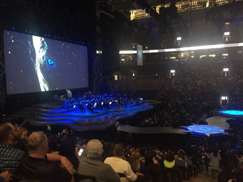 Vista sentada para Scotiabank Arena Secção 108 Fila 19 Lugar 24