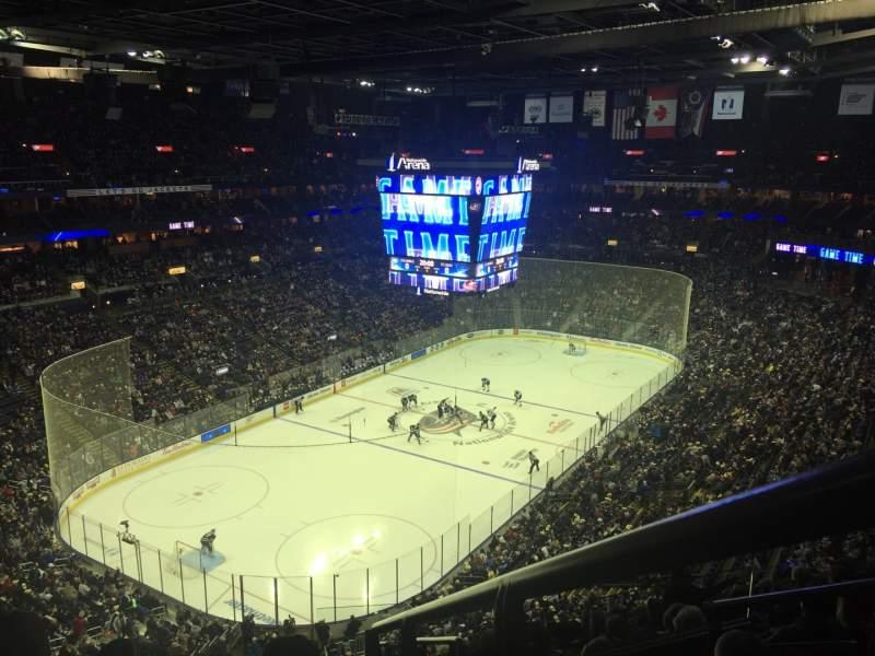 Vista sentada para Nationwide Arena Secção 221 Fila N Lugar 1