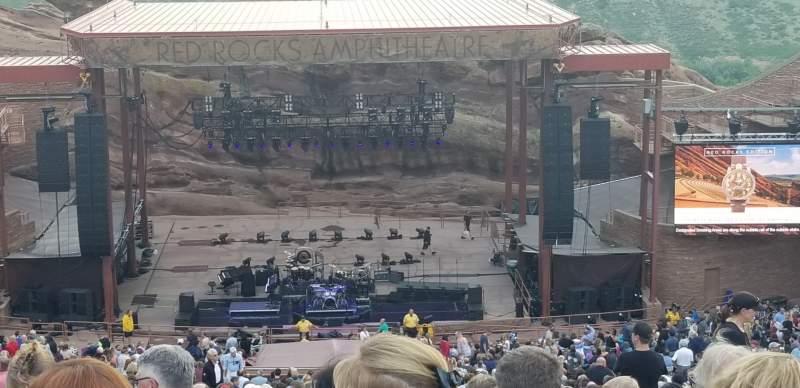 Vista sentada para Red Rocks Amphitheater  Secção Center Fila 48 Lugar 93 and 94