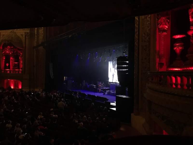 Vista sentada para Chicago Theatre Secção Balcony Box 10 Fila A Lugar 14