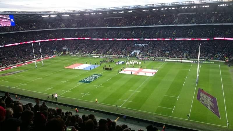 Vista sentada para Twickenham Stadium Secção M4 Fila 51 Lugar 103