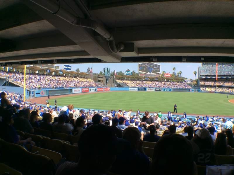 Vista sentada para Dodger Stadium Secção 41FD Fila X Lugar 8