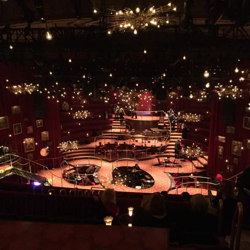Vista sentada para Imperial Theatre Secção Rear Mezzanine 3 Fila G Lugar 1