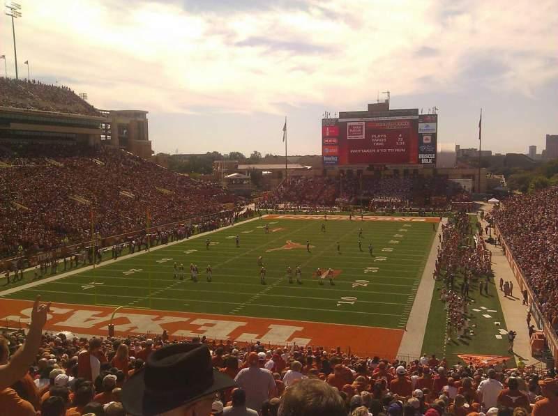 Vista sentada para Texas Memorial Stadium Secção 15 Fila 52 Lugar 1