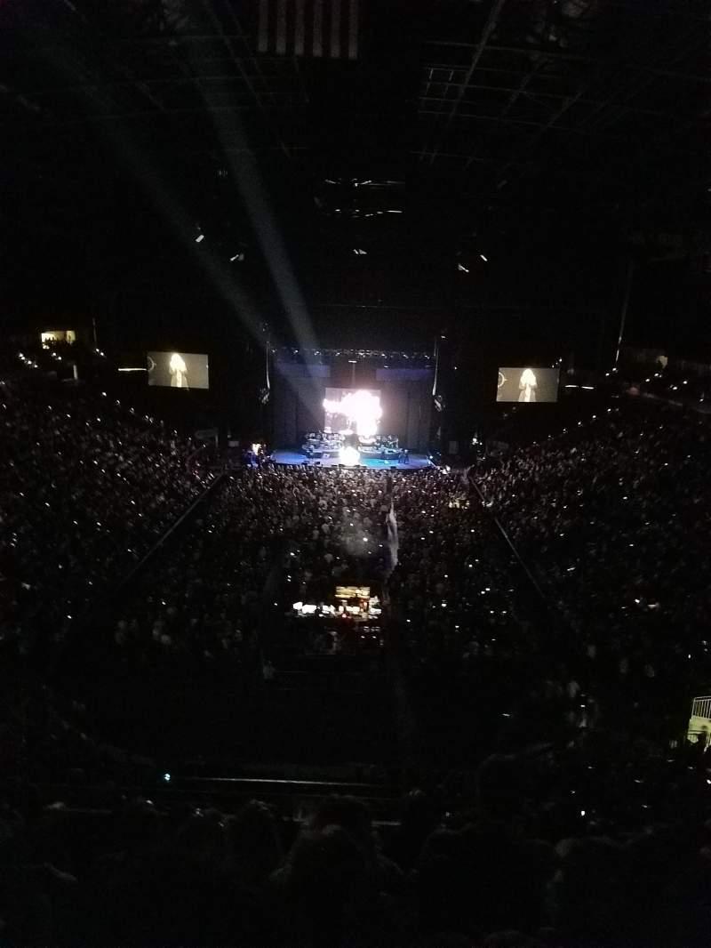 Vista sentada para VyStar Veterans Memorial Arena Secção 312 Fila F Lugar 5