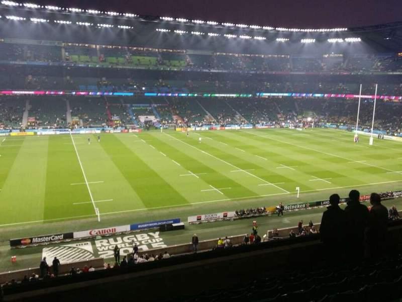 Vista sentada para Twickenham Stadium Secção M35 Fila 59 Lugar 318