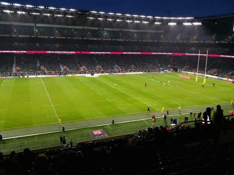 Vista sentada para Twickenham Stadium Secção M10  Fila 67 Lugar 251