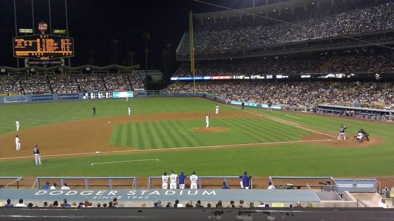 Vista sentada para Dodger Stadium Secção 131LG Fila B Lugar 3