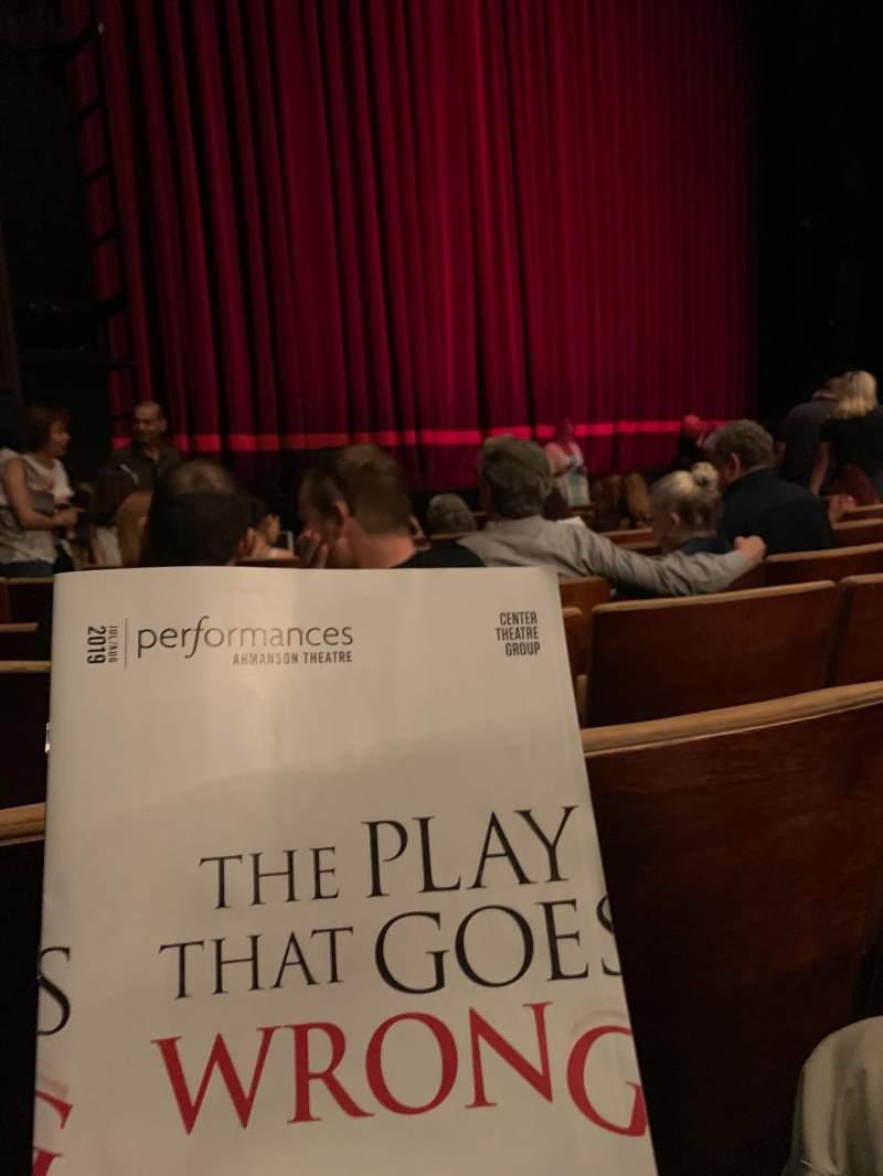 Vista sentada para Ahmanson Theatre Secção Orchestra left Fila G Lugar 39