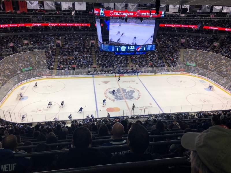 Vista sentada para Scotiabank Arena Secção 310 Fila 15 Lugar 4