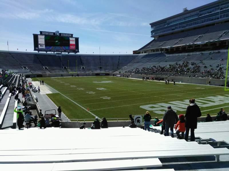Vista sentada para Spartan Stadium Secção 3 Fila 24 Lugar 44