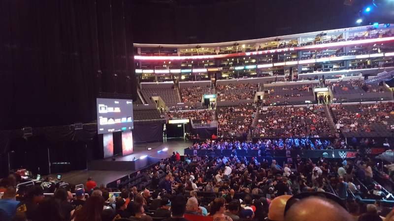 Vista sentada para Staples Center