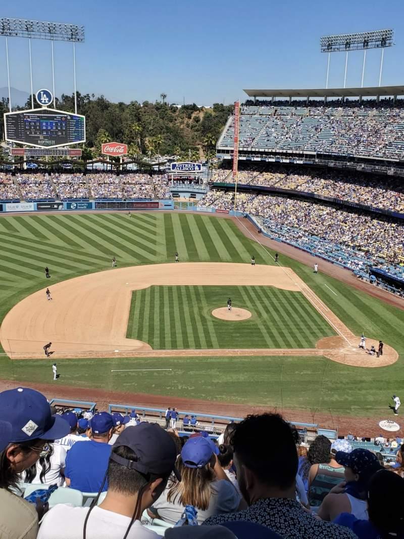 Vista sentada para Dodger Stadium Secção 15RS Fila N Lugar 9