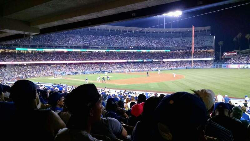 Vista sentada para Dodger Stadium Secção 38FD Fila W Lugar 7
