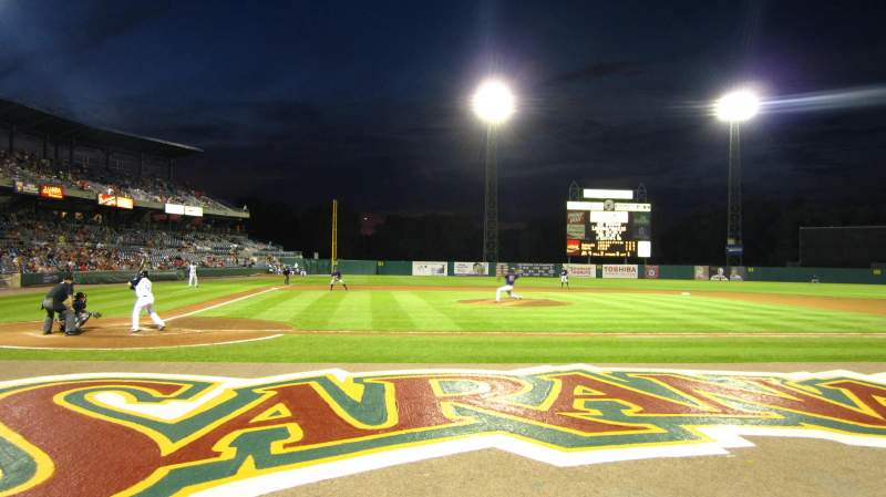 Vista sentada para NBT Bank Stadium Secção 105 Fila 1 Lugar 6