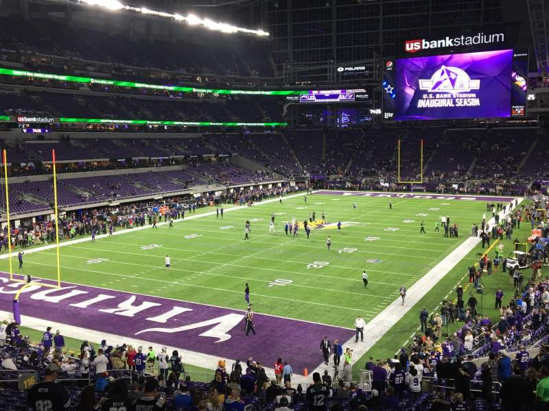 Vista sentada para U.S. Bank Stadium Secção 116 Fila 31 Lugar 25