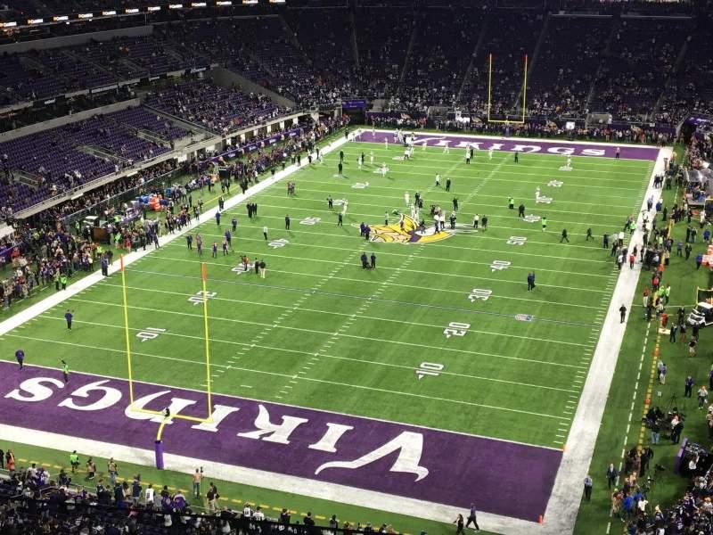 Vista sentada para U.S. Bank Stadium Secção 324 Fila C Lugar 3