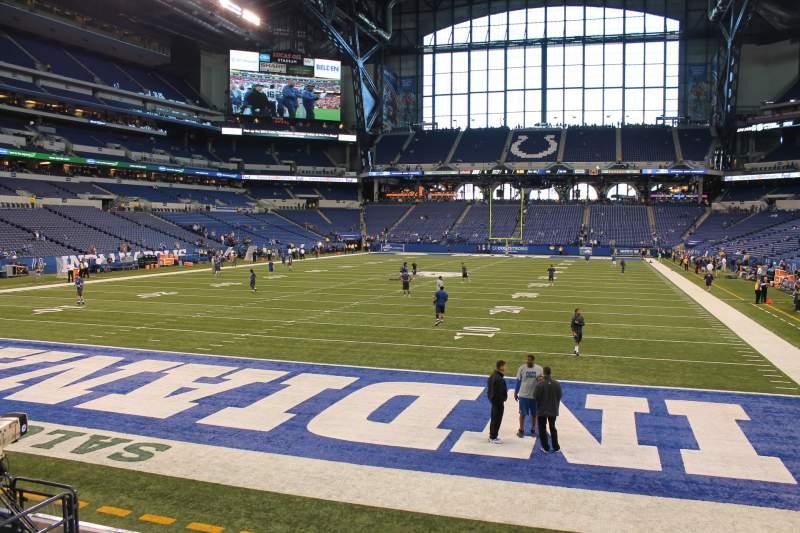 Vista sentada para Lucas Oil Stadium Secção 125 Fila 10 Lugar 10