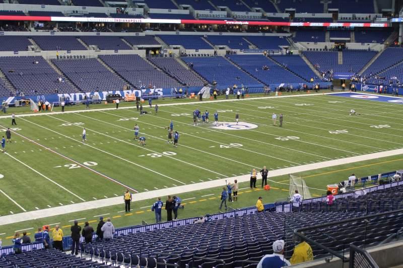 Vista sentada para Lucas Oil Stadium Secção 217 Fila 8 Lugar 13
