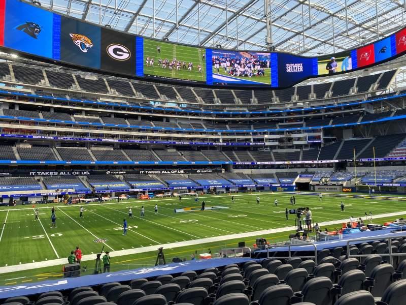Vista sentada para SoFi Stadium Secção C109 Fila 16 Lugar 9