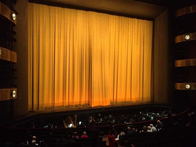 Vista sentada para David H. Koch Theater Secção 1st Ring Fila A Lugar 25