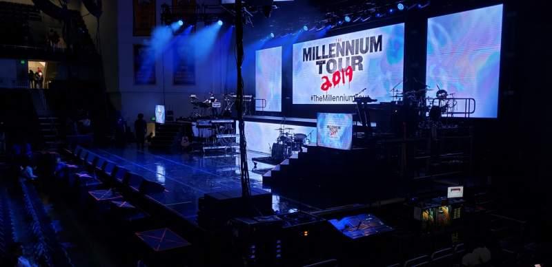 Vista sentada para UMBC Event Center Secção 108 Fila G Lugar 7