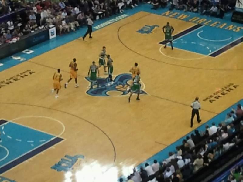 Vista sentada para Smoothie King Center Secção 305 Fila 17 Lugar 3