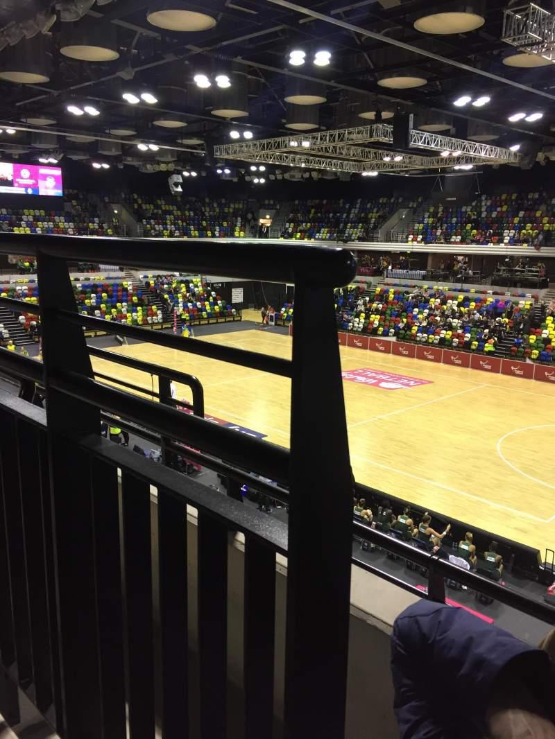 Vista sentada para Copper Box Arena Secção 210 Fila 12 Lugar 38