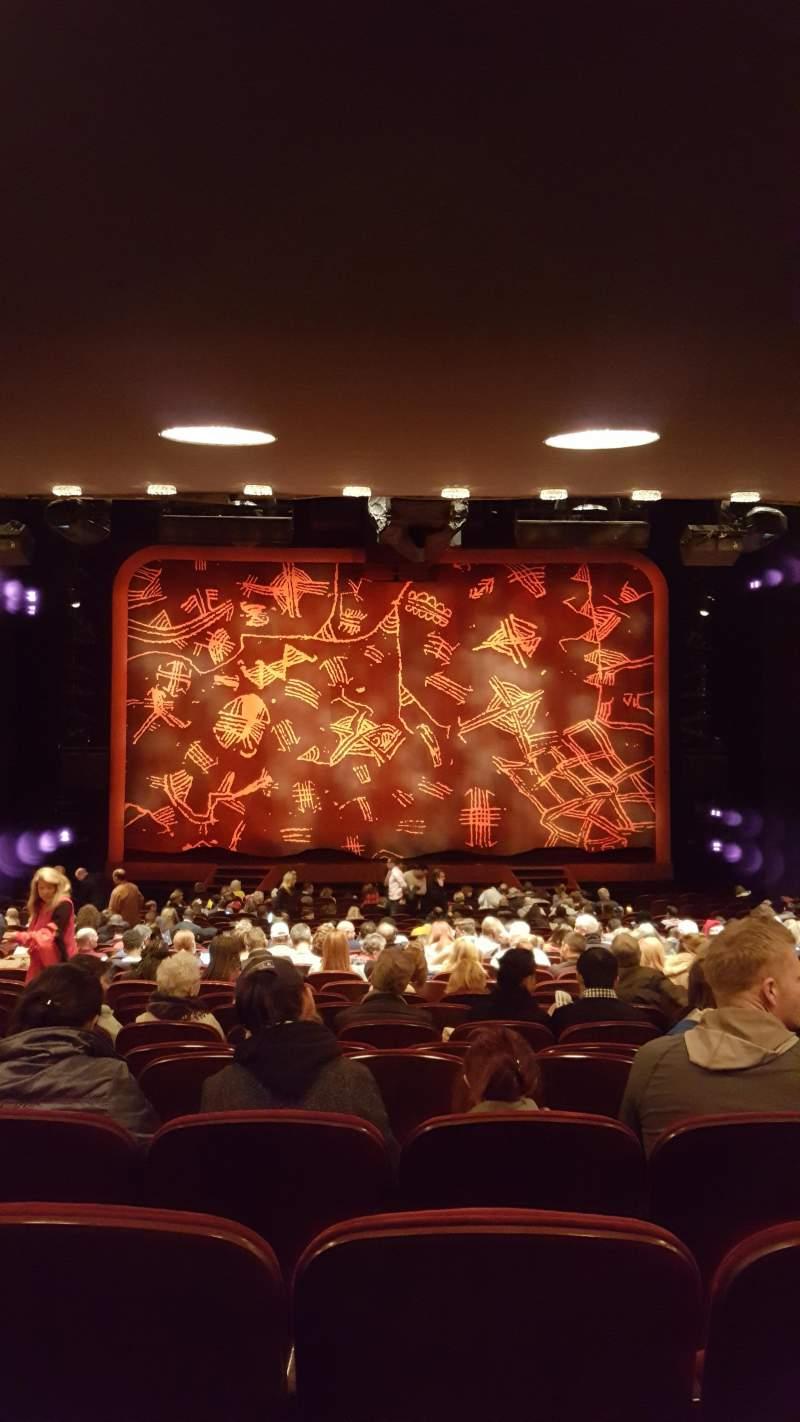 Vista sentada para Minskoff Theatre Secção Orchestra C Fila ZZ  Lugar 115