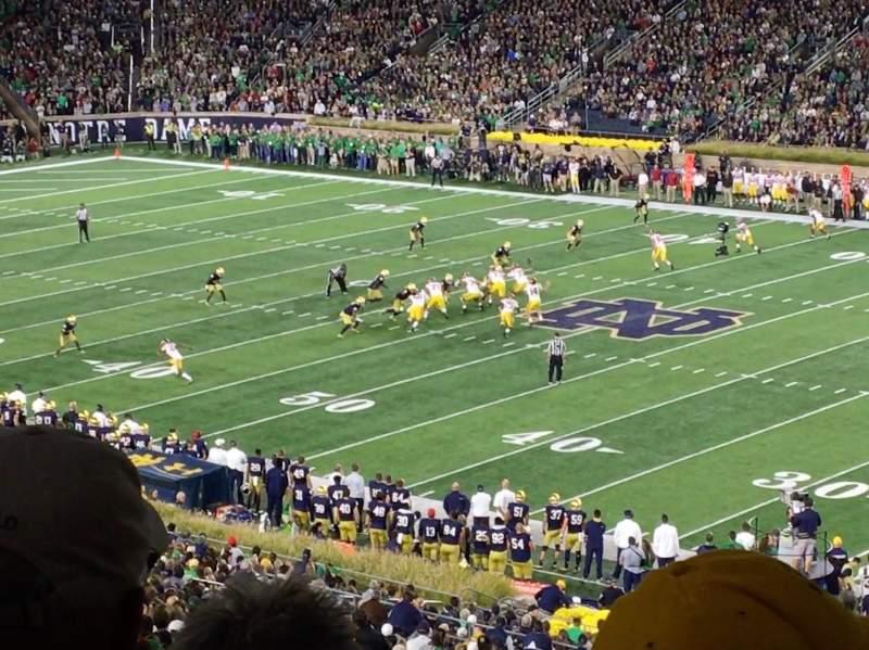 Vista sentada para Notre Dame Stadium Secção 125 Fila 7 Lugar 11
