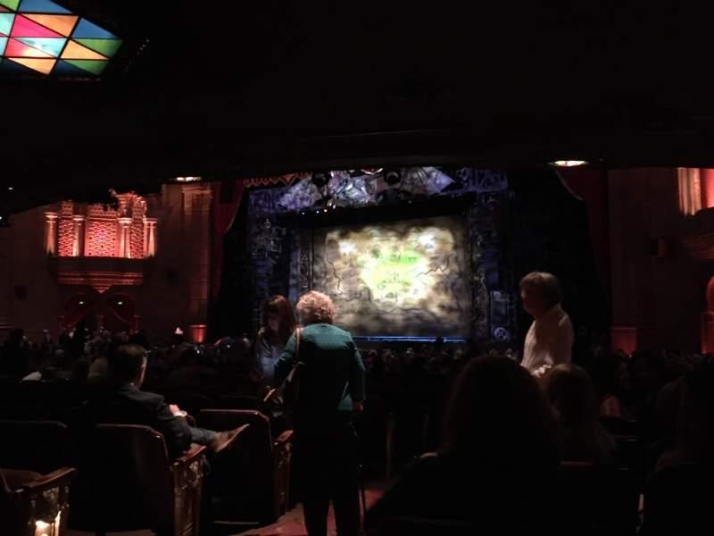 Vista sentada para Fox Theatre (Atlanta) Secção Orchestra R Fila FF Lugar 4